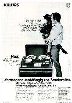 Original-Werbung/ Anzeige 1969 - PHILIPS VIDEO-RECORDER - ca. 180 x 240 mm