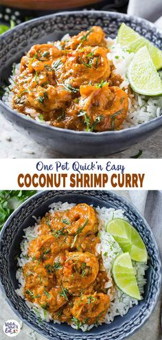 Quick and easy Coconut Shrimp Curry - Delicious shrimp cooked in coconut milk and tomato gravy. A perfect healthy recipe for lunch or busy weeknight dinner. Clean Eating Recipes, Lunch Recipes, Easy Dinner Recipes, Appetizer Recipes, Easy Meals, Healthy Recipes, Kid Recipes, Tofu Recipes, Healthy Meals