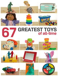 67 Greatest Toys of All-Time. So many childhood favorites on on this list! My favorites were cabbage patch kids and mr potato head 90s Kids, Kids Toys, Popular Toys, Barbie, Patch Kids, My Memory, The Good Old Days, Childhood Memories, Childhood Toys