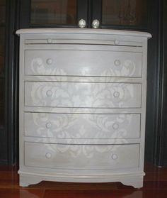 stenciled painted furniture | sloan chalk paint ideas chalk paint was going to be my new bff i m ...