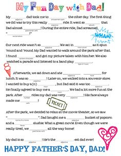 Father's Day Mad Libs! - Family Spice