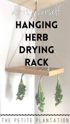 How we made our own Herb Drying Rack! And, you can too! -- Making your own herb drying rack is super simple. In fact, my 6 year old made this one!  In this post we explain why and how we made it! And how you can make one, too!