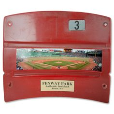 Fenway Park Seat Back Photo - Red