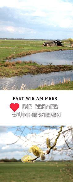 Bremen Tipps: Die Wümmewiesen vor Bremen - Fast wie am Meer.