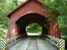 Yachats River Covered Bridge in Oregon.  I had no idea Oregon had covered bridges until I saw them.  Lots of them