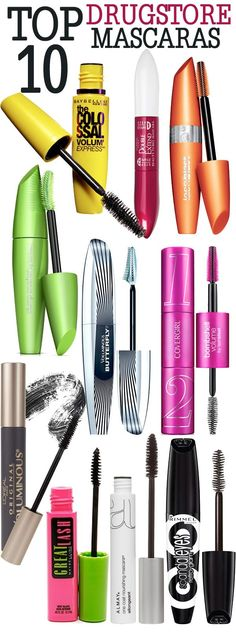 Top 10 Drugstore Mascaras