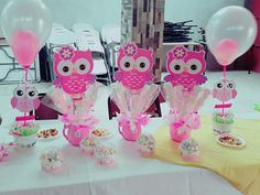 Cumple mai 2nd Birthday Party For Girl, Owl Cake Birthday, Owl Birthday Parties, Baby Shower Prizes, Baby Shower Cakes, Baby Shower Gifts, Owl 1st Birthdays, Kitten Party, Owl Cakes