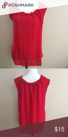 Philosophy Republic Sleeveless Blouse NWOT, excellent condition. Perfect for the upcoming holidays!   ***Size Small***  Bundle for combined shipping! Philosophy Tops Blouses