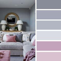 Gray and blush color scheme #colorpalette #gray #color