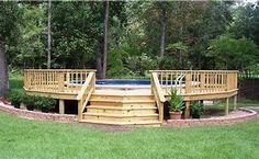 Image result for round pool decks