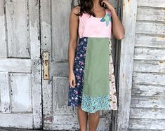 Kayla dress-small medium-artsy-Eco Clothing-Upcycled Clothing-Free People and Anthropologie inspired-by Love HIGHER Handmade Clothing