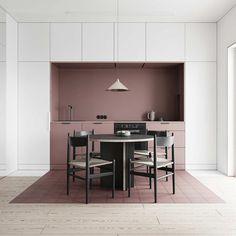How to arrange an open space Small Interior design Interior Minimalista, Küchen Design, Layout Design, House Design, Design Ideas, Wall Design, Store Design, Interior Design Kitchen, Kitchen Decor