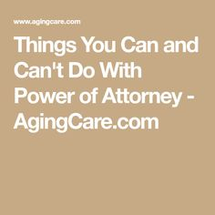 Whether you've been named as someone else's power of attorney (POA) or you're looking to appoint one for yourself, know what rights, responsibilities and limitations come with this designation. Dementia Care, Alzheimer's And Dementia, Funeral Planning Checklist, When Someone Dies, Will And Testament, Power Of Attorney, Aging Parents, Lisa, After Life