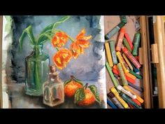 LIVE:  Tulips & Oranges in Pastel Painting Class - https://www.youtube.com/watch?v=8TxpEsvkZ1M
