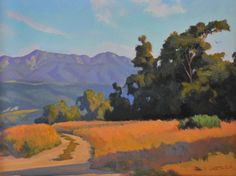 mrning-shadows. Arturo Tello, my favorite plein-air artist in the Santa Barbara region.