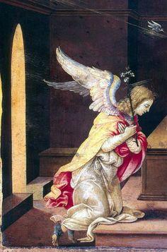 Filippino Lippi (Italian 1457-1504) ~ Annunciation (detail)