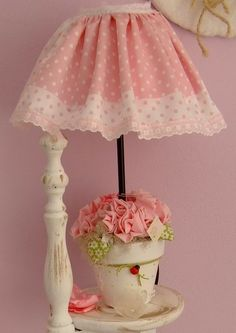 Pink String Crystal Table Lamp Pretty Kids Bedroom Ideas