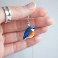 Bluebird Necklace  Le Happy Bluebird Totem by le by leanimale, $44.00