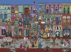 I'm not usually one for folk art, but I LOVED this painting of New Orleans.  Really need to have money when I attend these art festivals. :(