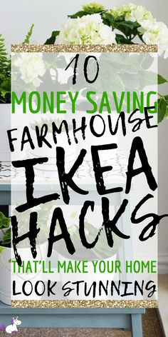 Farmhouse Ikea hacks that will give your home a cozy farmhouse style that looks way more expensive than it actually is! I don't know about you but I just cannot get enough of Ikea & Ikea hacks… if you love. Farmhouse Kitchen Interior, Farmhouse Design, Farmhouse Decor, Farmhouse Ideas, Farmhouse Front, Modern Farmhouse, Ikea Hacks, Handmade Home Decor, Diy Home Decor
