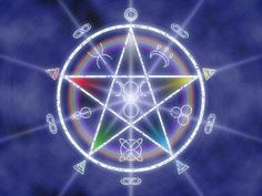 Colorful Wiccan protection pentacle with runes. Magick Spells, Wiccan, Green Witchcraft, Witch Wallpaper, Protection Symbols, Religion And Politics, Religious Symbols, Coven, Book Of Shadows