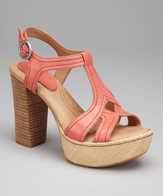 Wow-worthy legs are just one shoe away. These Opanka hand-sewn T-strap sandals flaunt fine-grained vegetable-tanned leather straps with retro-chic topstitching and a summery raffia-wrapped platform that amps gams in comfortable, eye-catching fashion. 4.25'' heel with 1.25'' platformVegetable-tanned leather upperLeather l...