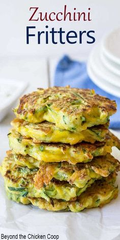 Shredded zucchini and cheddar cheese create a lovely side dish in these zucchini cheddar pancakes. These can be eaten as an appetizer, side dish or even as a main meal. #zucchini #zucchinifritters #zucchinipancakes