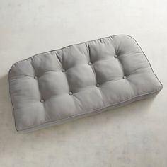 Tufted Large Contour Settee Cushion In Cabana Gray Cushions Loveseat Sofa Settees