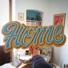 Wonderful hand painted sign by -- to be featured -- Calligraphy Words, Typography Letters, Painted Letters, Hand Painted Signs, Lettering Design, Hand Lettering, Logo Design, Letras Abcd, Graphic Design Lessons