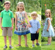 Danish royal family gather in the grounds of Gråsten Palace for the annual summer photocall - hellomagazine.com- eldest is Prince Christian, then Princess Isabella & then twins Prince Vincent and Princess Josephine