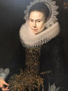 1625 Portrait of Young Lady with Ruff by Paulus Moreelse, Carnegie Museum of Art.