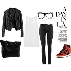 """Casual Airport Outfit"" by victorycarmichael on Polyvore"