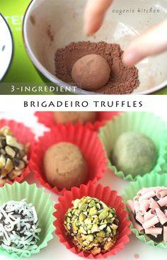 3-Ingredient Truffle Chocolate Recipe - Brigadeiro