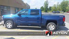 BAK Industries FiberMax tonneau cover installed on this beautiful blue Chevy Silverado
