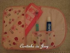 Kit higiene bucal em tecido. - VilaClub