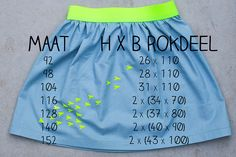 Neon yellow accent skirt by Polkadotjes., via Flickr
