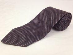 BROOKS BROTHERS 59L Mens Neck Tie Makers Brown Blue Polka Dots 100% Silk USA #BrooksBrothers #NeckTie #Ties