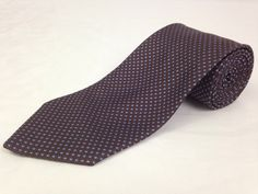 BROOKS BROTHERS 59L Mens Neck Tie Makers Brown Blue Polka Dots 100% Silk USA #BrooksBrothers #NeckTie #Ties