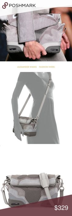 ALEXANDER WANG sneaker suede purse bag shoulder Very good condition. Amazing runway rare piece. Chanel Dior Zara Fendi Kenzo Prada Hermes Michael Kors Valentino Lacoste Louis Vuitton Balenciaga Alexander Wang Kate Spade Hugo Boss Burberry Prada Gucci Runway Fashion show.  Free people. Premuim Signature collection. Bundle with other items to get 15% off. Alexander Wang Bags Shoulder Bags