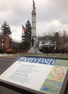 """Bucknell University has a """"Poetry Path"""" leading through Lewisburg, PA, with 10 locations where a poem is juxtaposed with a landmark. I love this idea."""