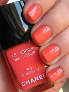 Orange Fizz is a creamy coral that leans towards pink.