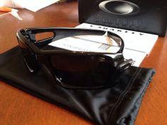OAKLEY polished black/warm grey CRANKCASE sunglasses NEW AUTHENTIC