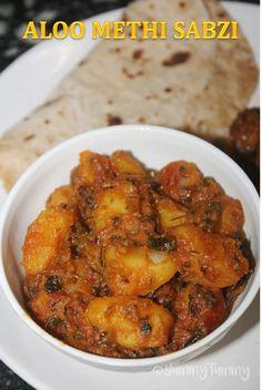 YUMMY TUMMY: Aloo Methi Tamatar Sabzi Recipe - Potato Tomato Sabzi Recipe