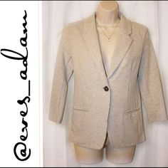 Gray Extra Soft Super Cute Blazer This 3/4 Sleeve Blazer is Brand New with Tags. Fitted look. Perfect for the office or laying over your favorite little black dress. Metaphor Jackets & Coats Blazers