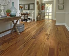 Matte-finished floors like Brazilian Koa offer a beautiful oil-finished look without the tedious upkeep. Low Gloss, High Style! [Matte Finishes | Flooring Trends 2015]
