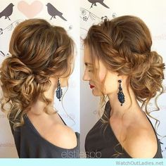 The perfect updo with lose curls and braids, so lovely