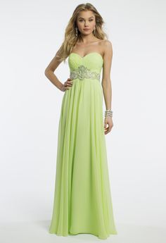 Camille La Vie Strapless Empire Beaded Prom Dress