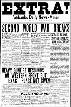 Historic front page