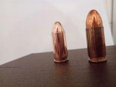 24 Karat vergoldet. Vorher, nachher. 9 mm Patrone.( nicht schussfähig). Made by Gold Custom Oberflächenveredelung in Perfektion.