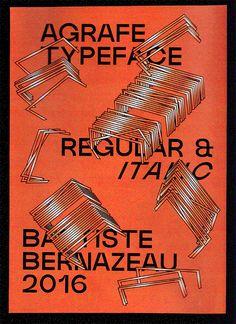 Agrafe—Typeface Specimen on Behance